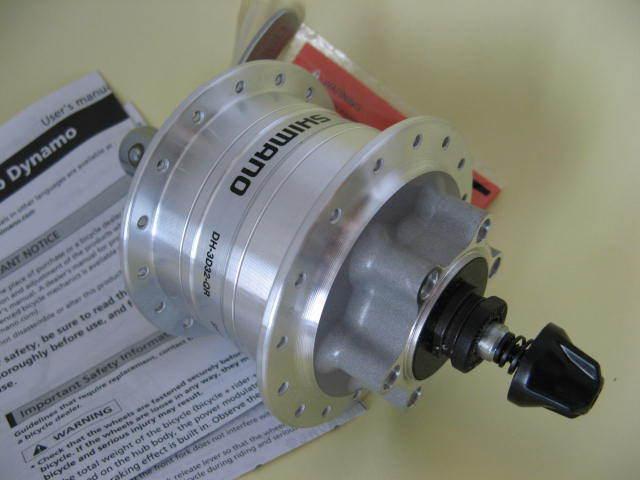 DH-3D32 QR VR Nabendynamo Shimano 32 Loch 6-Loch Disc silver NEU
