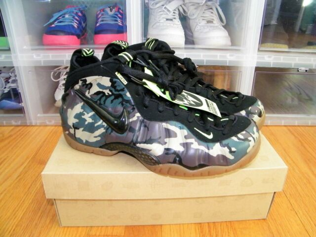the latest 4cbee 7cbb4 ... australia nike air foamposite pro prm le army camo black green 587547  300 size 9 2b532