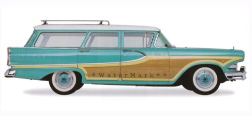 Edsel 1958 Bermuda Vintage Poster Print Car Art Classic Station Wagon Car