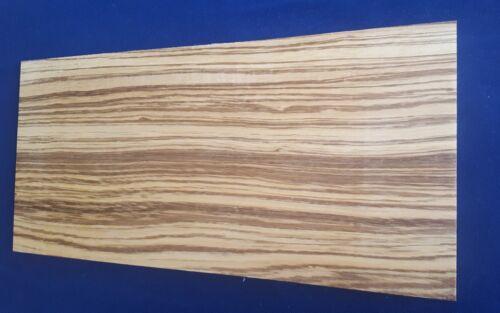 4 mm o 6 mm 1 × sólido Zebrano//Zebrano Hojas 3 mm