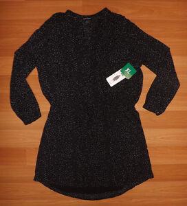 bf48ea355e22a6 NWT Womens HILARY RADLEY Long Sleeve Printed Black White Blouse Sz M ...