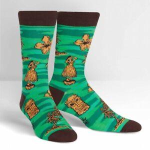 Tiki-Toes-Mens-Funky-happy-Funny-Cool-Crew-Socks