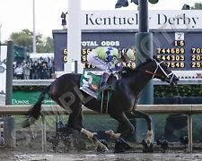 ALWAYS DREAMING 2017 KENTUCKY DERBY WINNER JOHN VELAZQUEZ HORSE 8X10 PHOTO