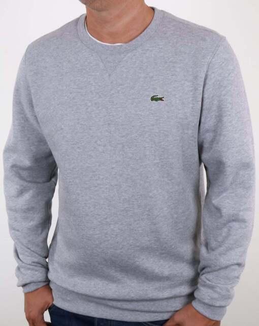 Mens Neck Lacoste Sport Sweatshirt T4mediumGreyEbay Sh7613 Crew Y7bfv6gy