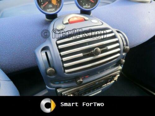 Chrom Lüftungsgitter Luftdüse Gitter Smart Fortwo MC01 450 City//Coupe