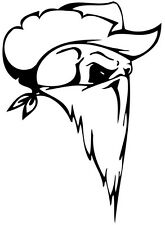 This is a bandit skull die cut vinyl sticker or decal. Great for Car or laptop!!