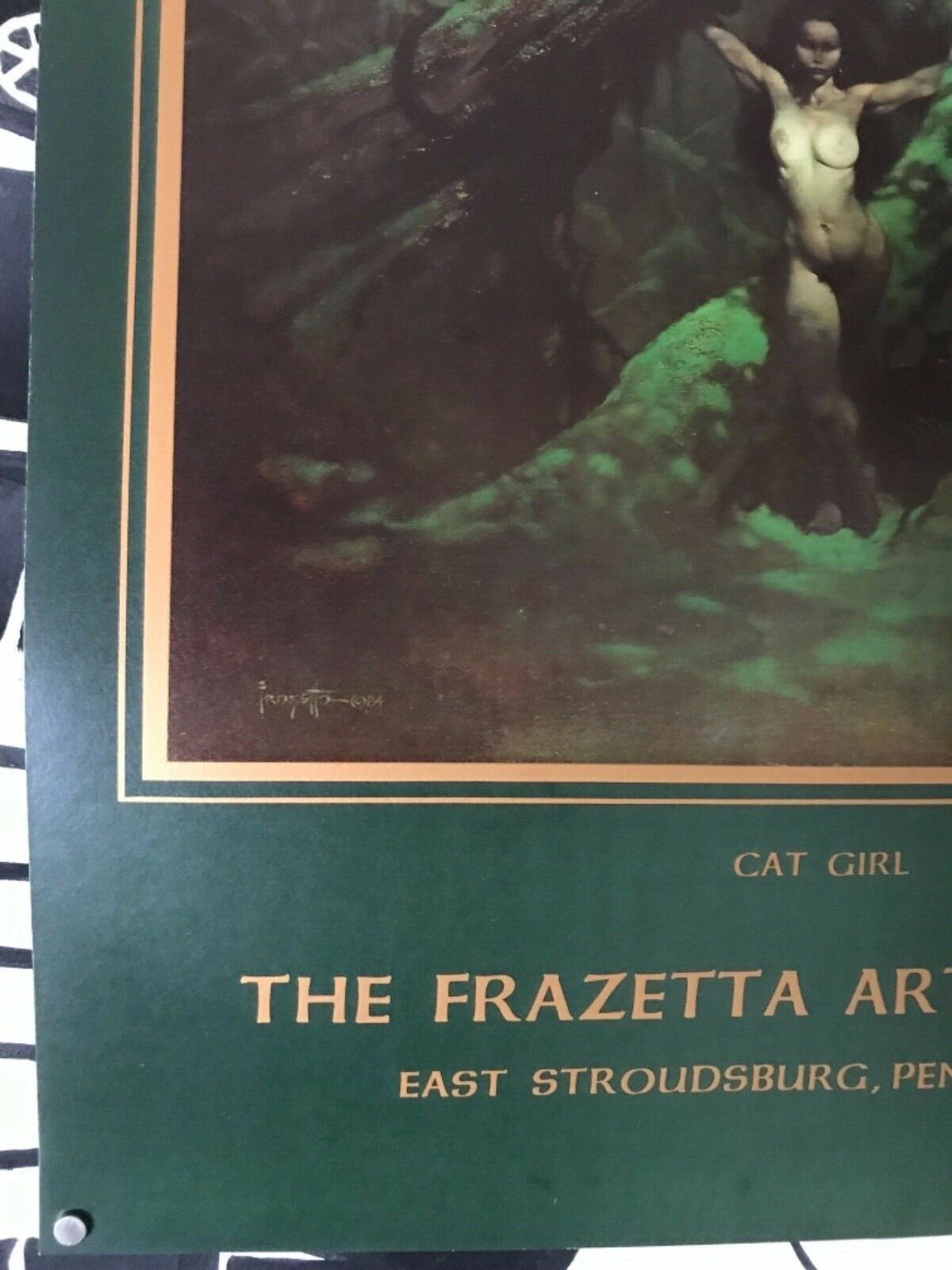 Frank Frazetta Museum Cat Girl poster dead stock NOS never hung print