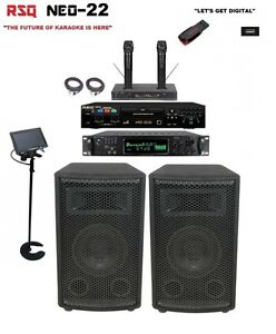 Complete Professional Karaoke System Rsq Neo 22 Player Digital