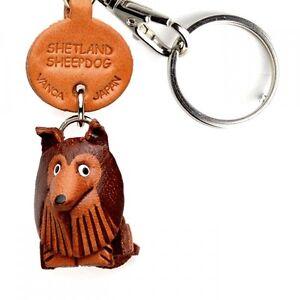 Shetland Sheepdog//Shelty 3D Leather Dog Bag//Ring Charm VANCA Made in Japan 26070