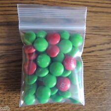 "100 Small Resealable 2.5""x 3"" Plastic Zip Lock Bags 4 Mil"