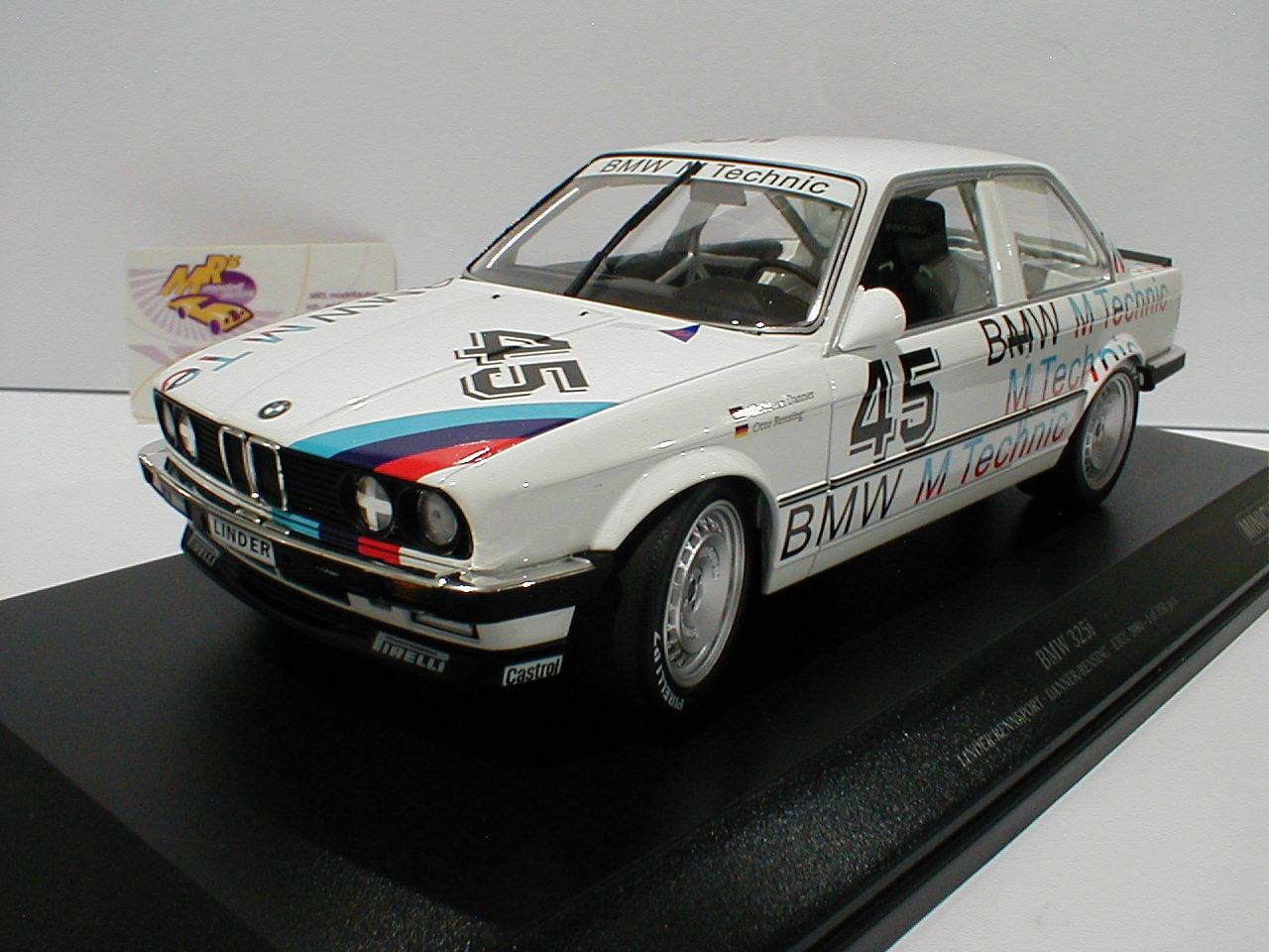 MINICHAMPS 155862645-BMW 325i Linder Sport de Course No. 45 ETCC 1986 C. Danner 1:18   Moelleux Et Léger