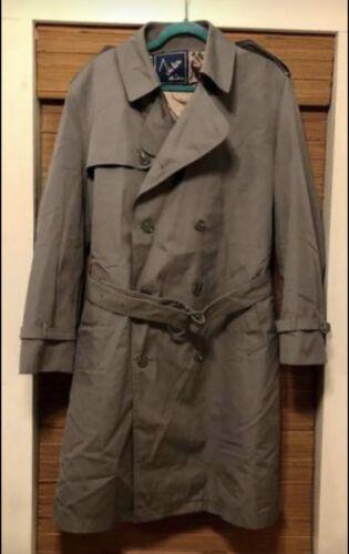 Mens Vintage John Weitz Trench Coat 44 R