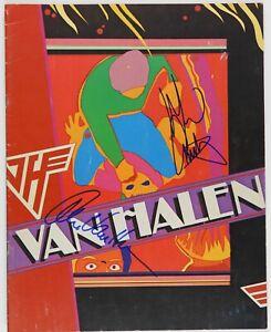 Van-Halen-JSA-Autograph-Signed-Original-Tour-Concert-Program-Fair-Warning