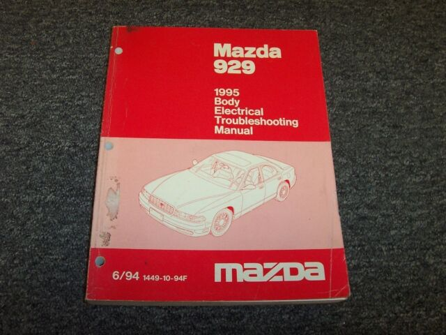 1995 Mazda 929 Sedan Body Electrical Wiring Diagram Manual