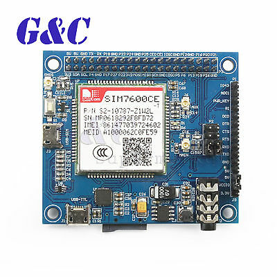 GPRS GSM 4G 3G 2G GNSS HAT for Raspberry Pi LTE CAT4 Based SIM7600CE-T