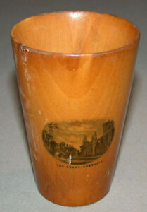 Antique-The-Abbey-amp-The-West-Arbroath-Mauchline-Ware-Cup