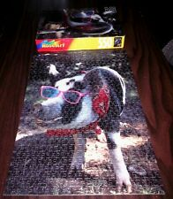 PIG IN PINK SUNGLASSES jigsaw puzzle 1997 retro Hammin' It Up hog swine Rose Art