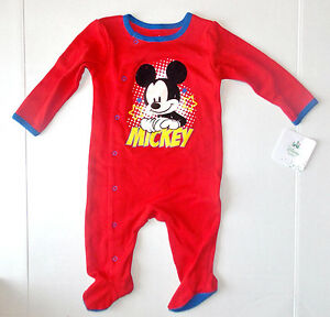 b2f123d5e Disney Baby Mickey Mouse Infant Boys Sleeper Size 3-6 Months NWT | eBay