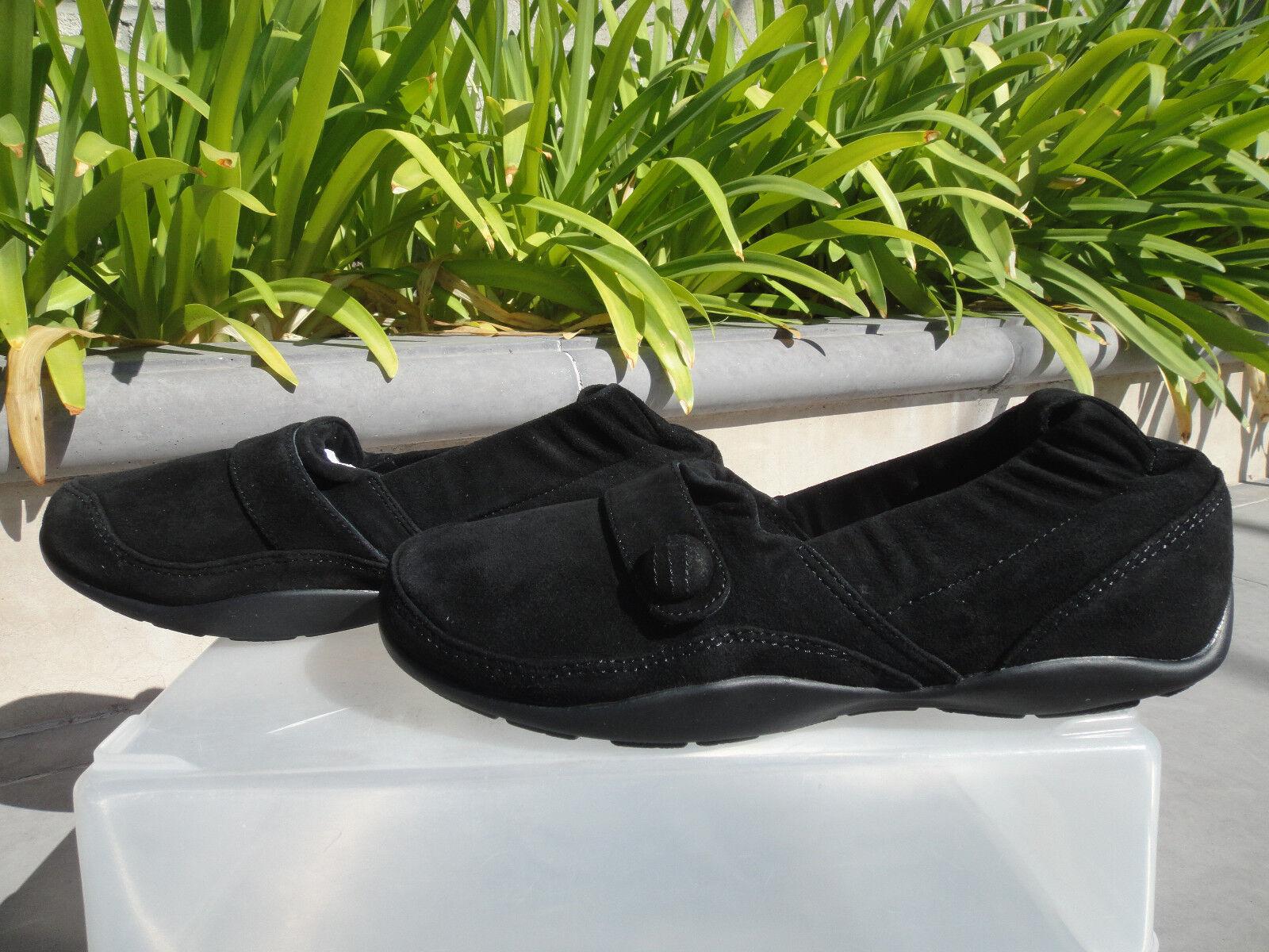 Dansko CAROL nero Suede Loafers, Footbed Footbed Footbed Wedge Slip-On Comfort scarpe Sz EUR37 a9da75