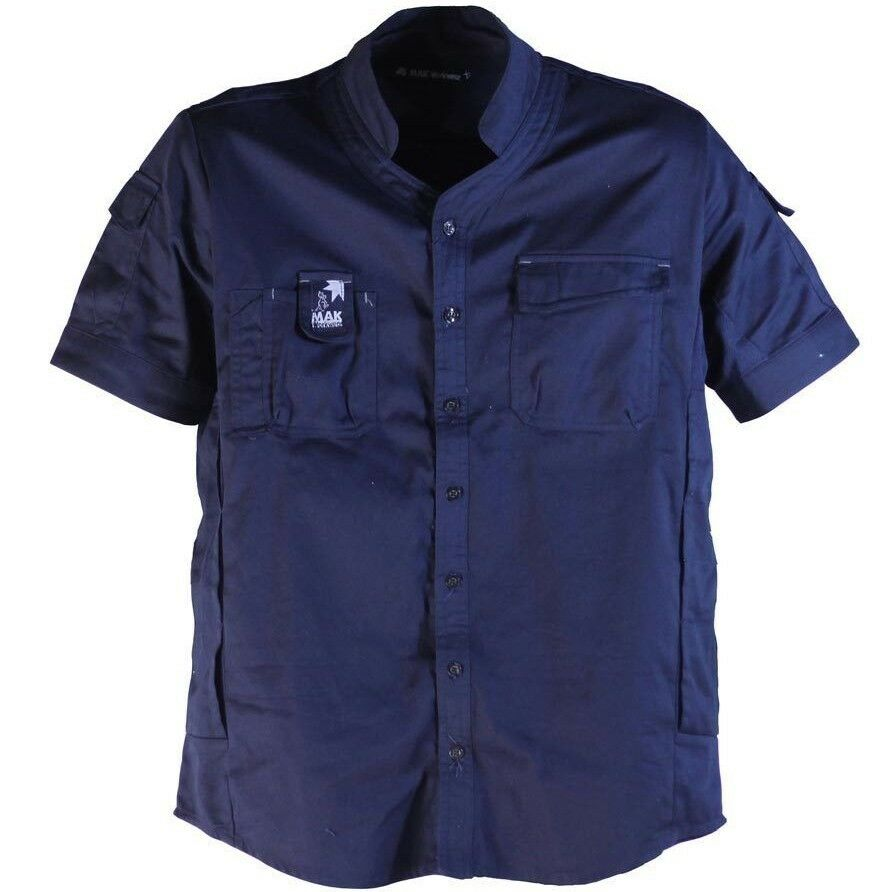 fbcd3291 MAK VENT DRILL SHIRT Contoured Collar, Cotton NAVY-Size M,L,XL Or 2XL &  Workwear opkswb1269-Casual Button-Down Shirts
