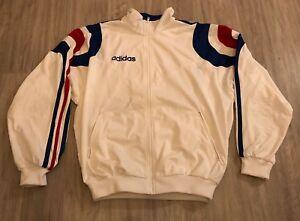Détails sur Gilet Équipe De France 1996? Taille 180 Bleu Blanc Rouge Adidas Veste Sweat Pull
