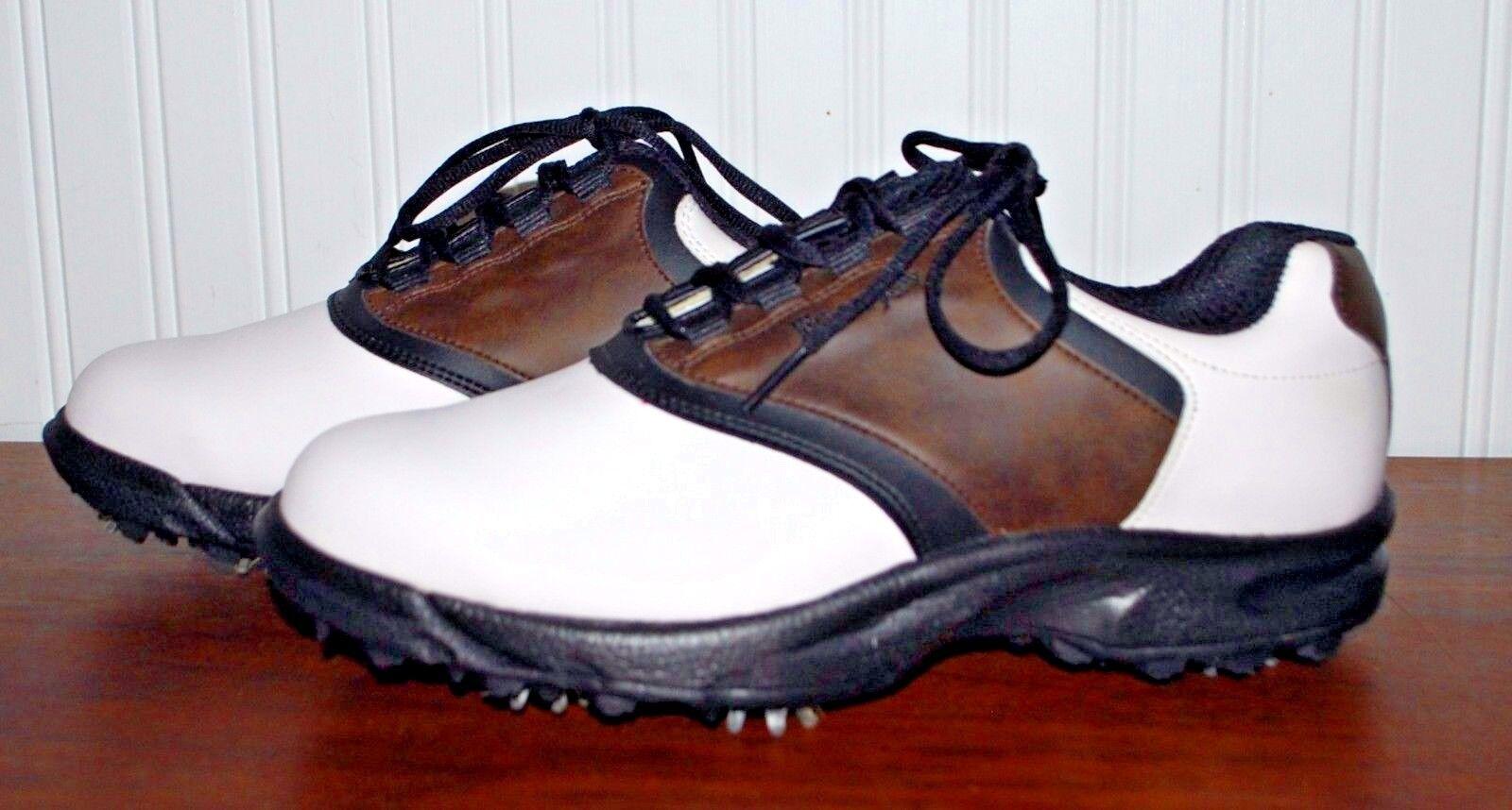 piede joy scarpa scarpa da golf mans scarpa joy verde joy taglia 9 ampia nero marrone bicolore bianco 6676c3