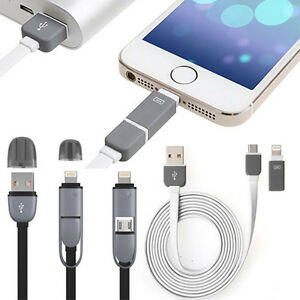 2-En-1-Micro-Usb-Data-Sync-cargador-Cable-de-plomo-para-Iphone-Lg-Samsung-Nokia-Htc-Reino-Unido