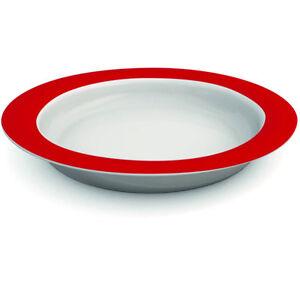 Ornamin-Plate-With-Sloped-Base-26cm-Red-White-PR65132-RD