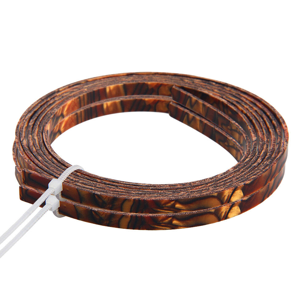 2 Pcs Celluloid Guitar Binding Project Purfling Strip
