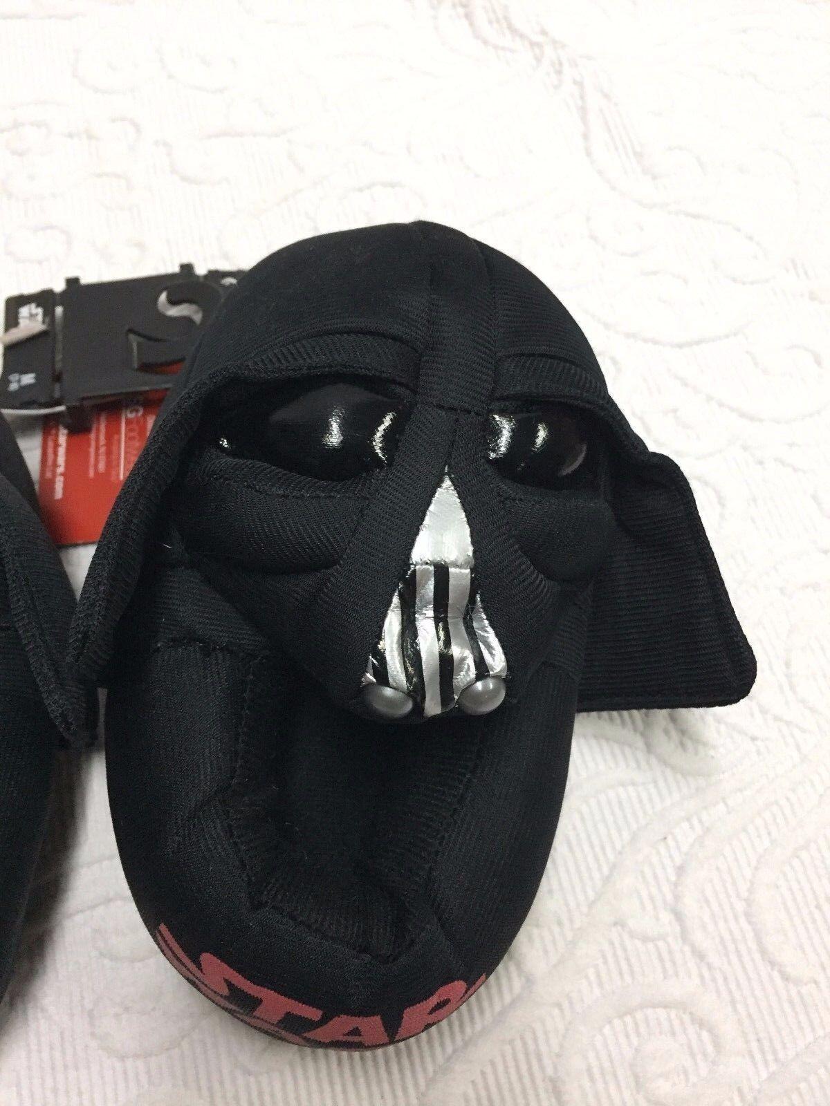 af05060c5baf Boys Star Wars Darth Vader Slippers Traction Dots Plush Shoes Size M ...