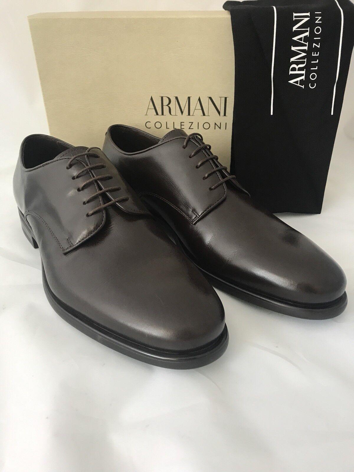 NIB 795 Armani Collezioni Uomo's Shoes Brown 12.5 45.5 Eu