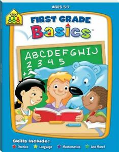 School-Zone-First-Grade-Basics-by-Hinkler-Books-School-readiness-activity-book