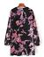 AU-seller-Black-vintage-chic-hippie-floral-velvet-v-neck-long-blouse-mini-dress thumbnail 4