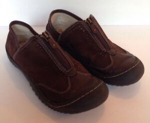 7ab7ce8582a J-41 Jeep Sapphire Brown Zip Vegan Loafers Women s US Shoe Size 7.5M ...