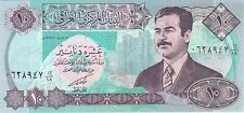 10 DINARS SADDAM HUSSEIN IRAQ IRAQI CURRENCY MONEY NOTE UNC BANKNOTE BILL CASH