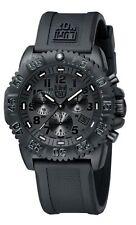 EMS Free ! NEW Luminox Colormark Navy Seals 3081 BO Blackout Chronograph Watch