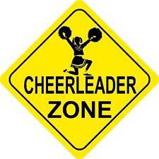 CHEERLEADING ZONE Sign yellow dance dancing coach team cheer gift football