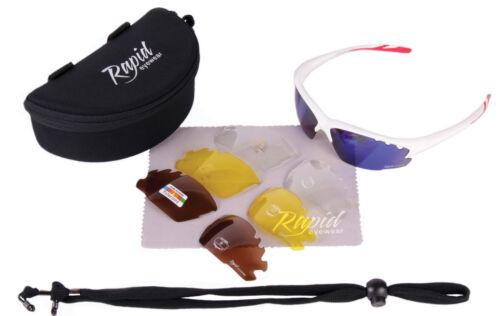 UV400 RADBRILLEN für Damen//Herren FAHRRADBRILLE Mit Wechselgläser Sportbrille