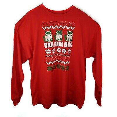 Christmas Grumpy Cat Long Sleeve T Shirt Ugly Sweater Holiday Bah Hum Bug Sz XXL | eBay