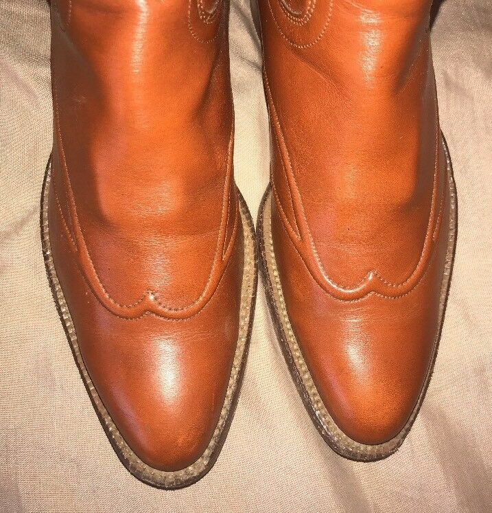 WOMEN'S LEATHER JUSTIN L 4115 BROWN LEATHER WOMEN'S WESTERN COWBOY Stiefel SIZE 5.5 B ca8096