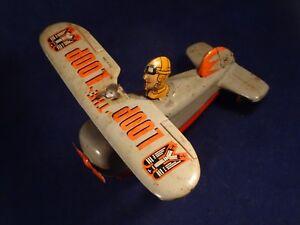 Ancien Jouet Mécanique Tôle Avion Looping Loop Japan Etc Années 50