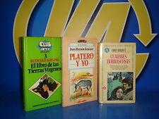 Libro Tres libros clasicos juveniles CUMBRES BORRASCOSAS-PLATERO Y YO-EL LIBRO D