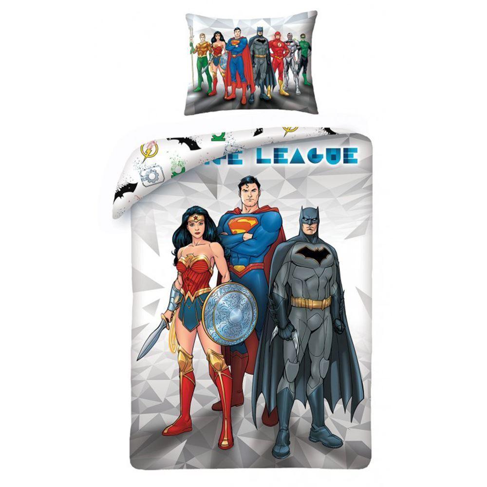 JUSTICE LEAGUE DUVET COVER BATMAN SUPERMAN WONDER WOMAN BEDDING
