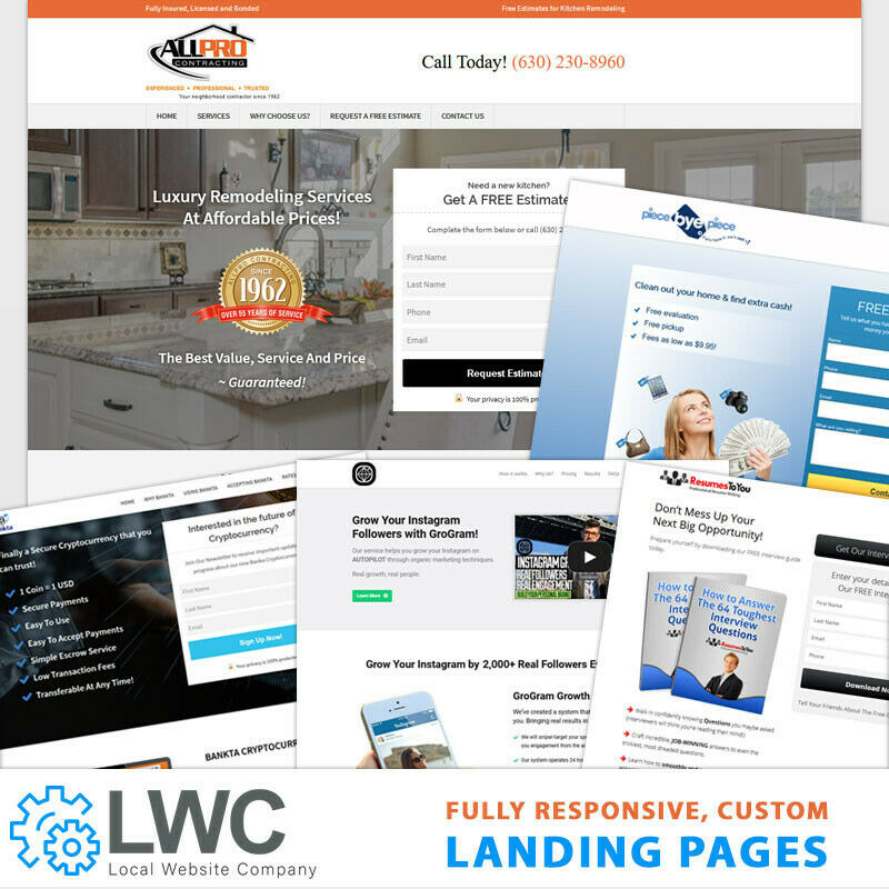 Custom Professional Responsive Wordpress Landing Page Design and installation. 2