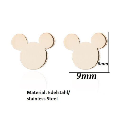 NEU! Disney Ohrring Ohrstecker Disney Land Mickey Maus Mouse Rosegold Rose