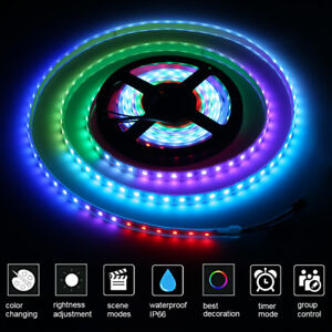SMD-5050RGB-12V-LED-Streifen-Lichtband-Schlauch-Beleuchtung-5M-60LEDs-M-IP66