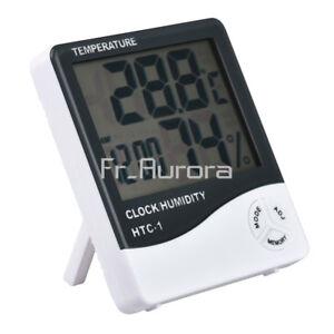 HTC-1-Digital-LCD-Thermometer-Hygrometer-Temperature-Humidity-Meter-Clock-Alarm