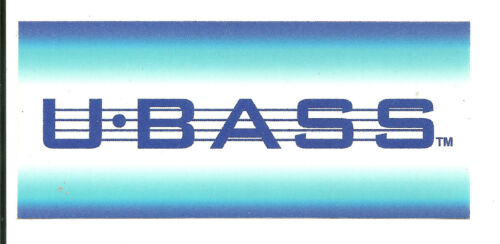 U Bass Sticker Decal