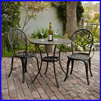 Camden 3 Piece Bistro Set With Built In