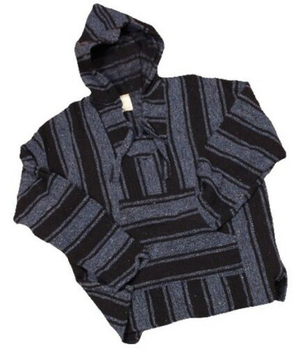 Woven Mexican Hooded Sweater Surfer Drug Rug-NWT Mexican Baja Hoodie Ponchos
